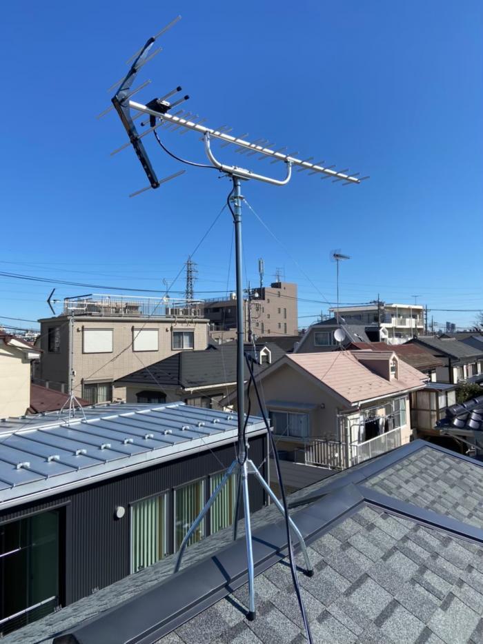 国立市富士見台|UHFアンテナ工事|飯田ホールディングス