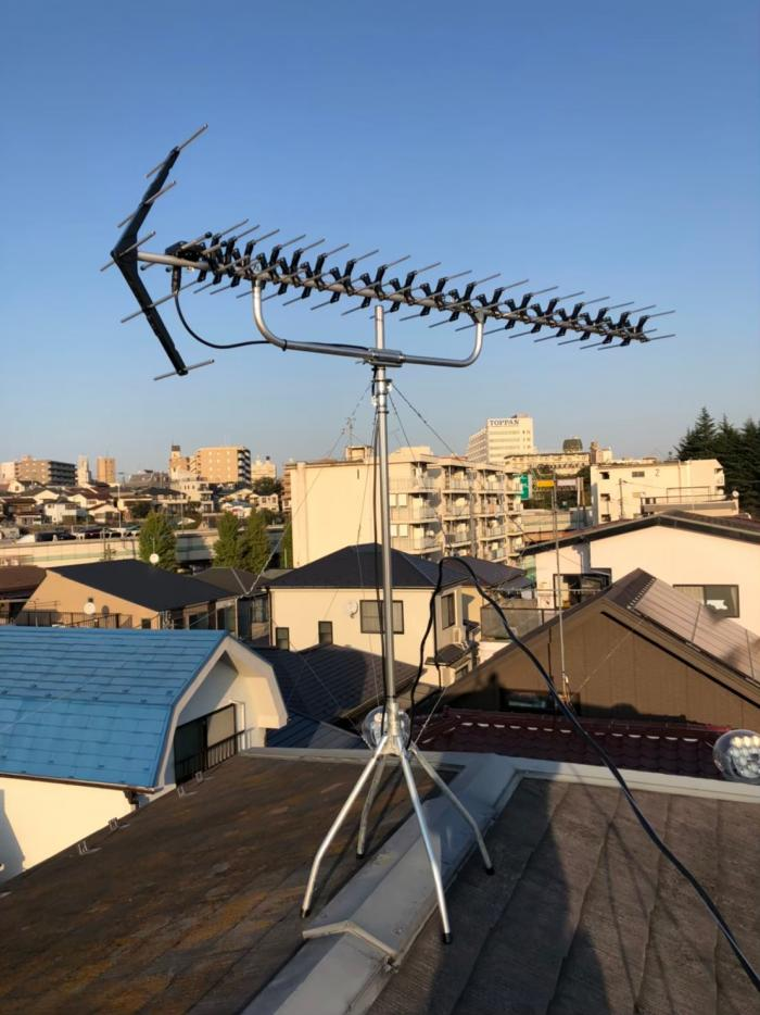 板橋区前野町|高性能UHFアンテナ工事