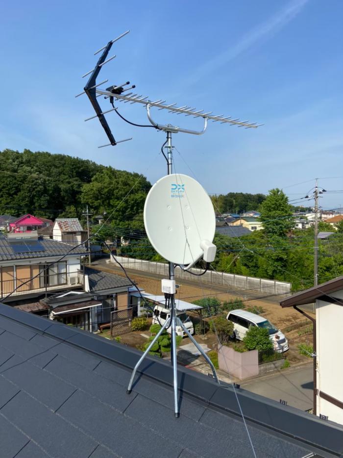 武蔵村山市中央 UHFアンテナ+BS /CSアンテナ工事 タクトホーム