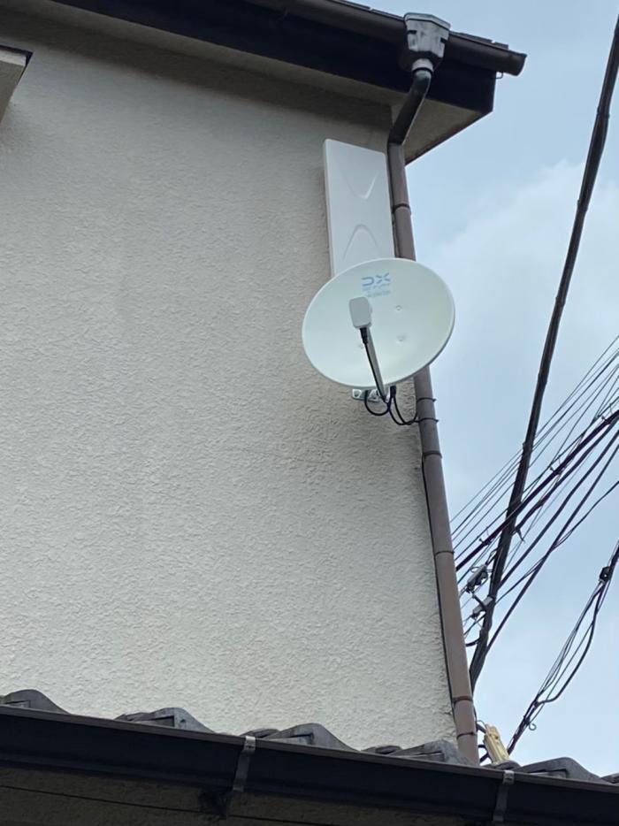 板橋区大谷口上町|デザインアンテナ+BS/CSアンテナ工事