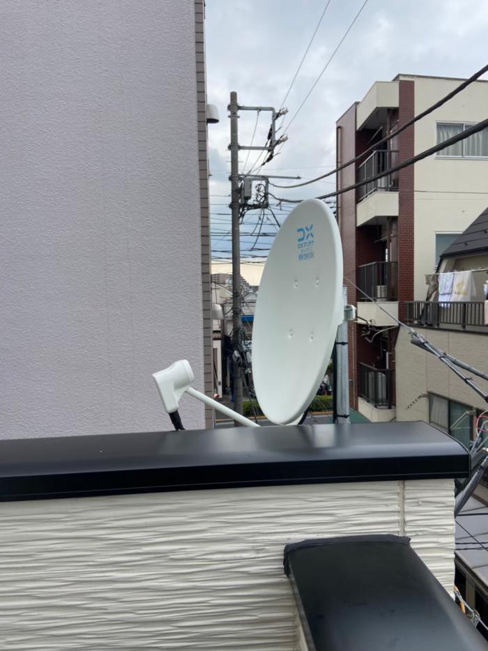 杉並区成田東|デザインアンテナ+BS/CSアンテナ工事