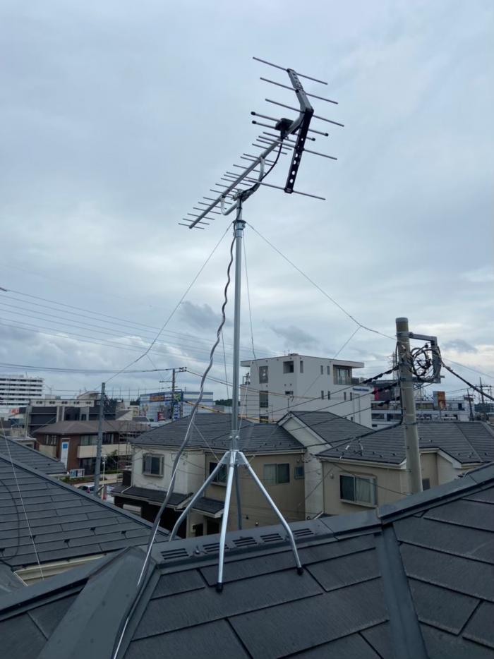 新座市畑中|UHFアンテナ工事