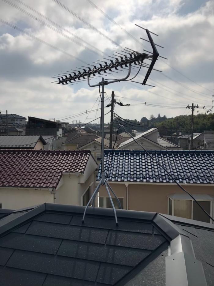 川口市戸塚南|高性能UHFアンテナ工事