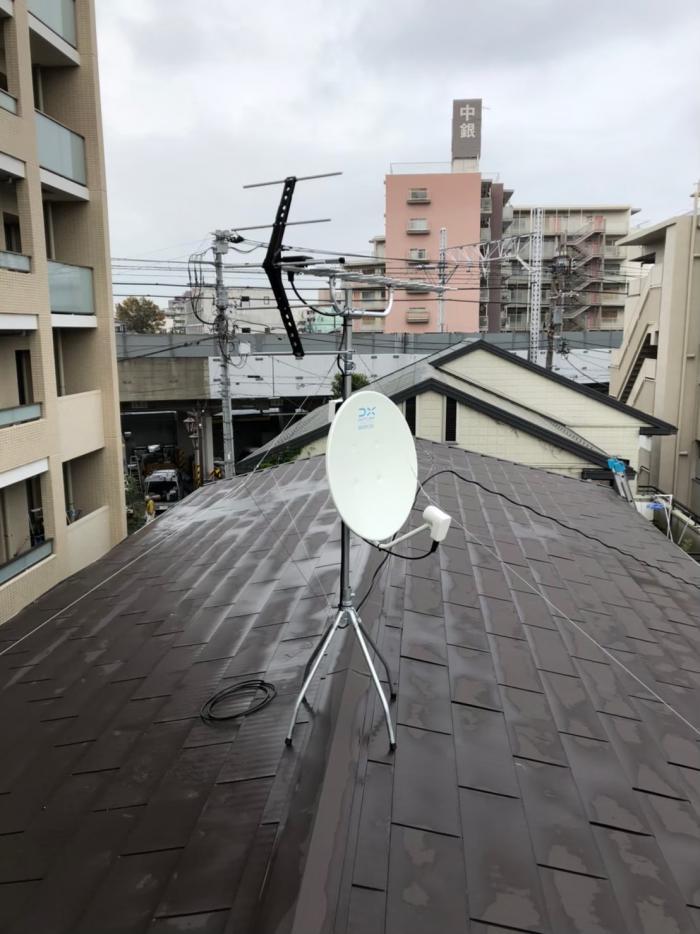 板橋区蓮根|UHFアンテナ+BS/CSアンテナ工事