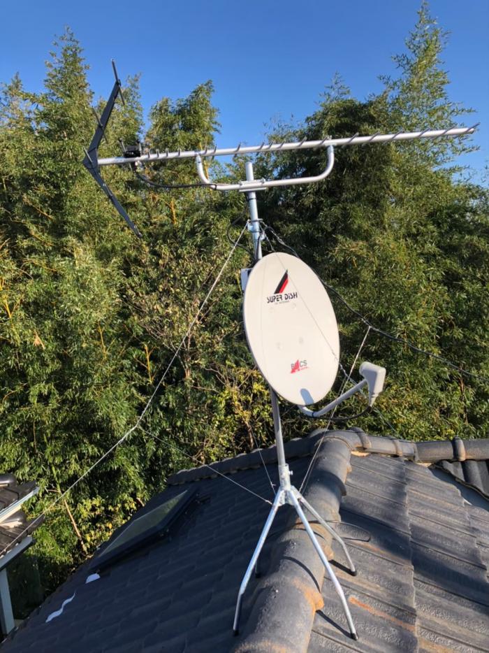さいたま市緑区三室|UHFアンテナ+BS/CSアンテナ工事