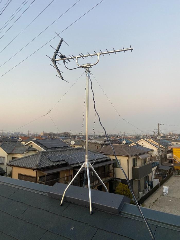 川越市砂新田 UHFアンテナ工事