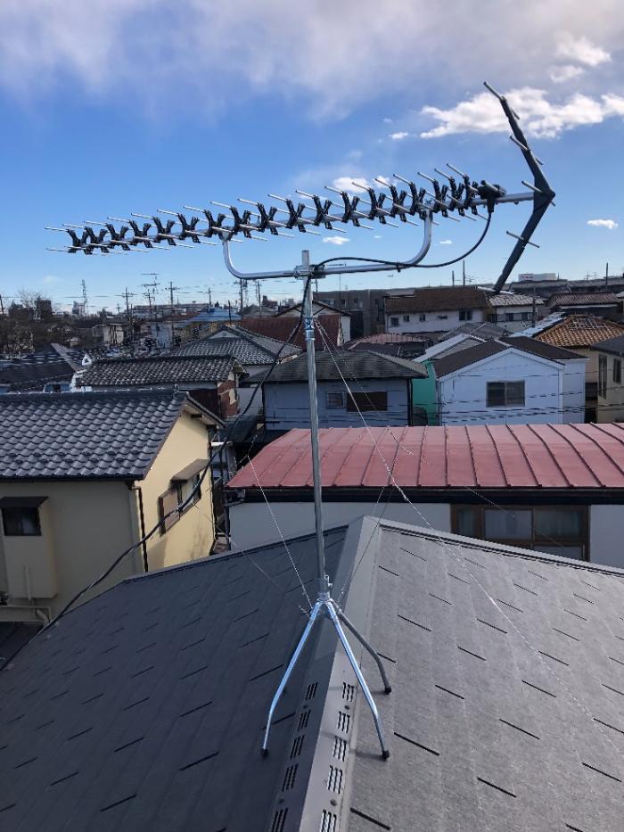 所沢市青葉台|高性能UHFアンテナ工事