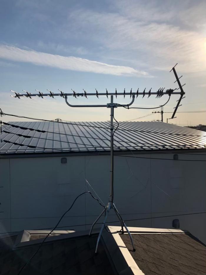 所沢市中新井|高性能UHFアンテナ工事