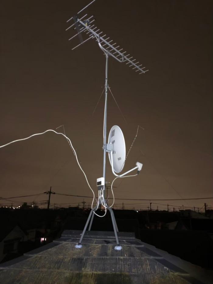 越谷市千間台西 UHFアンテナ+BSアンテナ方向調整工事