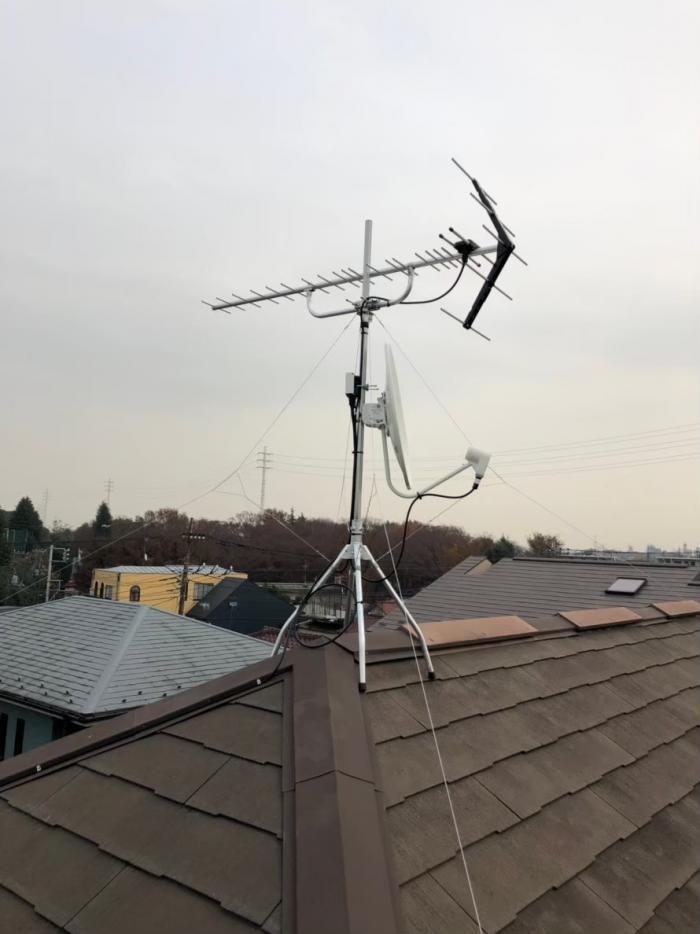 杉並区成田西|UHFアンテナ+BS /CSアンテナ工事