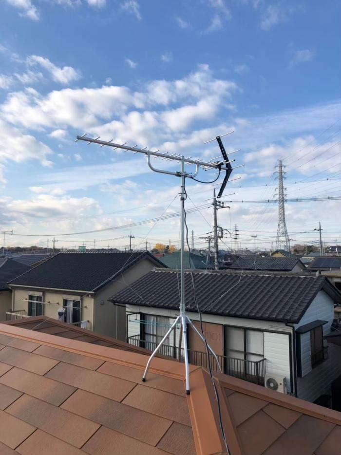 蓮田市椿山|UHFアンテナ工事