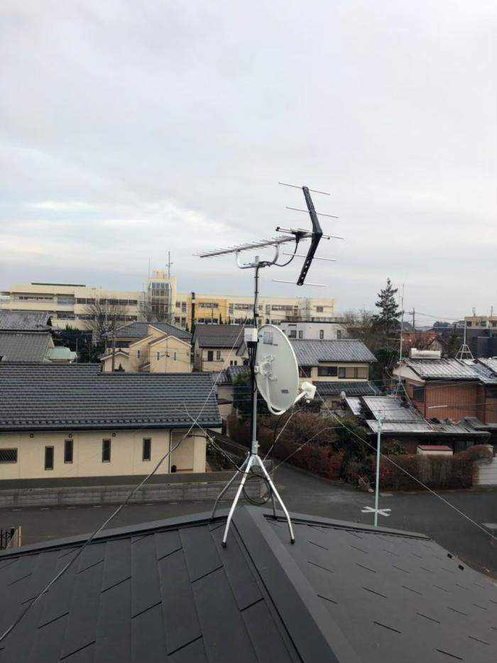 さいたま市北区吉野町 UHFアンテナ+BS/CSアンテナ工事