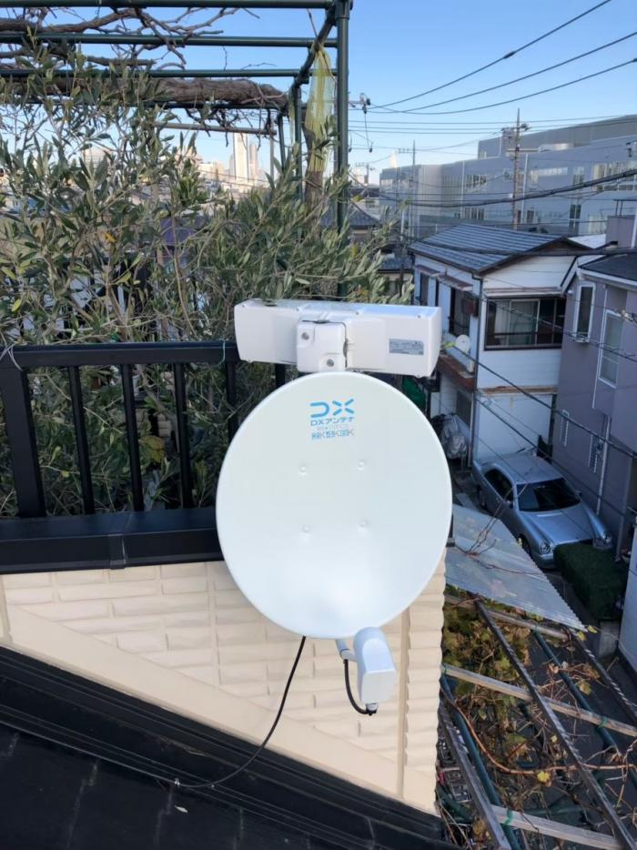 世田谷区代田|横型デザインアンテナ+BS/CSアンテナ工事
