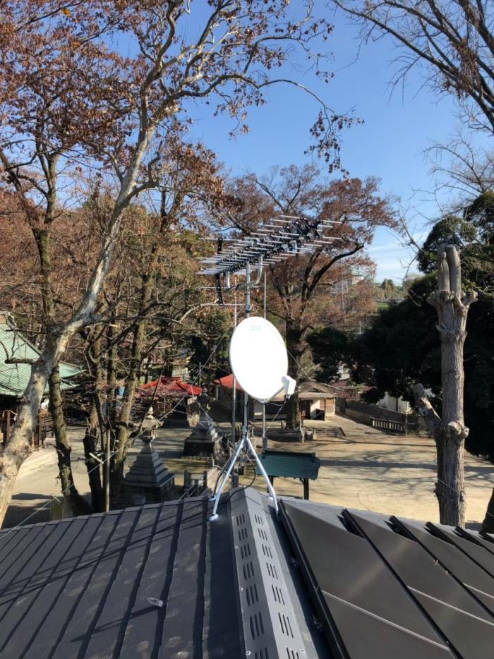 足柄上郡山北町山北|高性能UHFアンテナ+BS/CSアンテナ工事