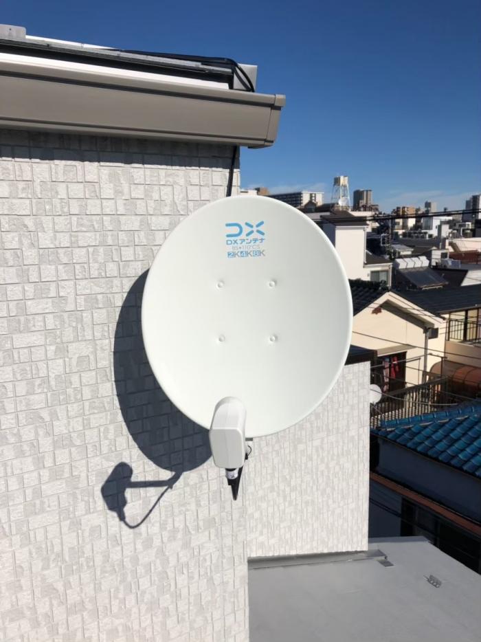 江東区北砂|デザインアンテナ+BS/CSアンテナ工事