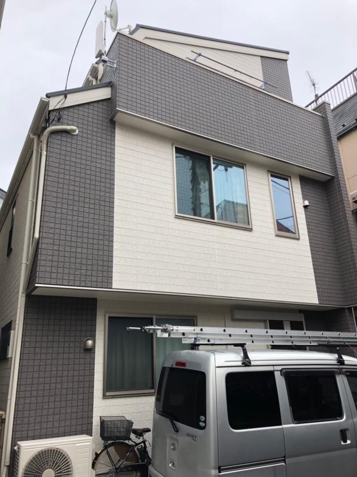 大田区南六郷|デザインアンテナ+BS/CSアンテナ工事