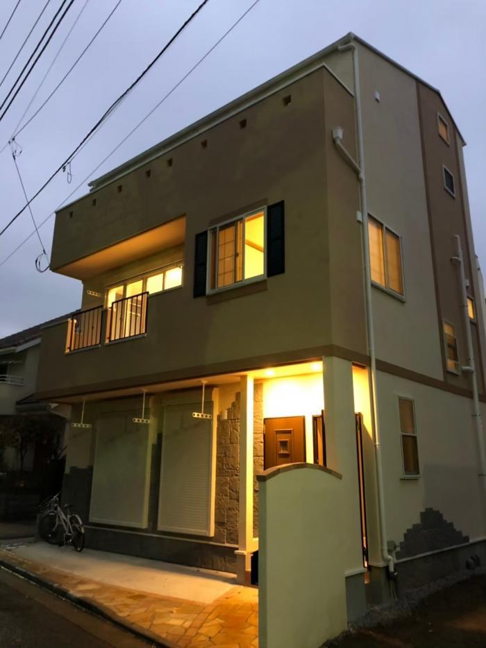 豊島区池袋本町|横型デザインアンテナ+BS/CSアンテナ工事