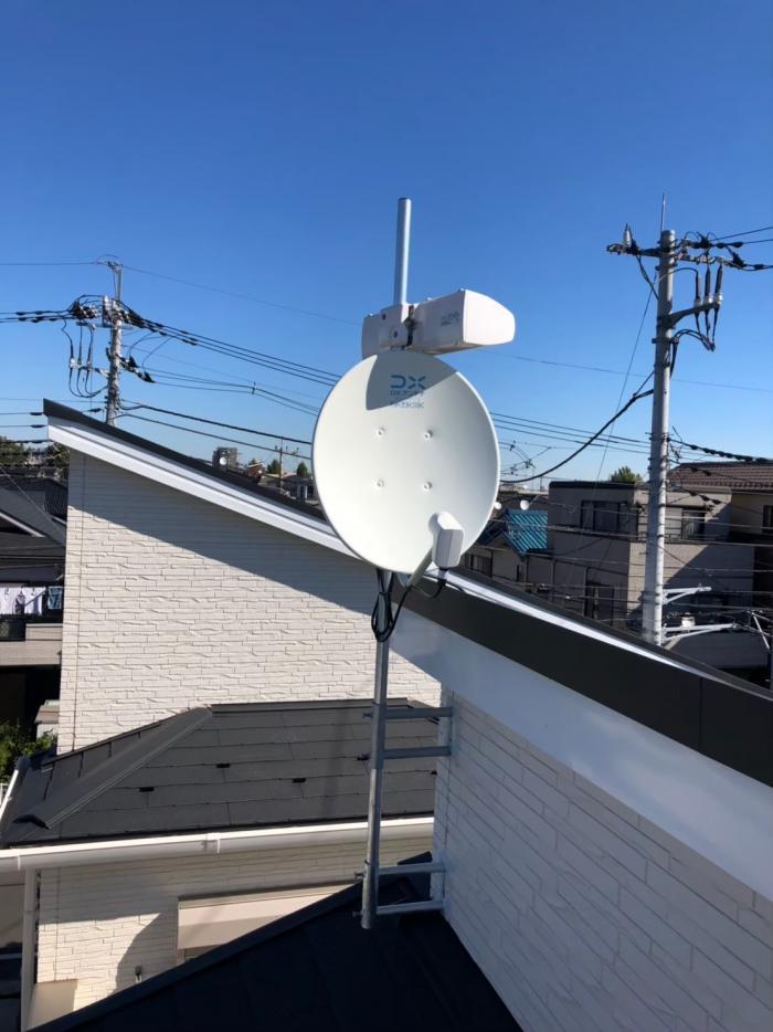 ふじみ野市鶴ヶ丘 BS/CSアンテナ追加工事