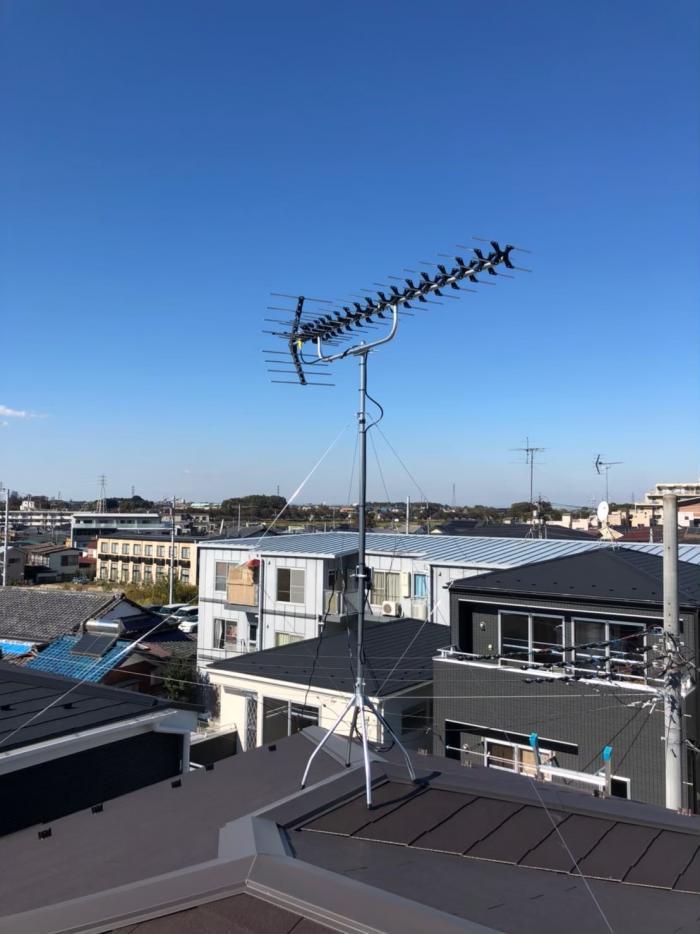 志木市柏町|高性能UHFアンテナ工事