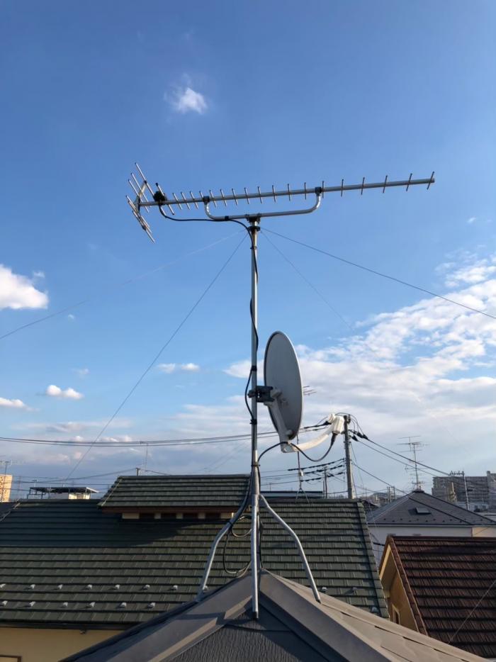 吉川市吉川 UHFアンテナ方向調整工事