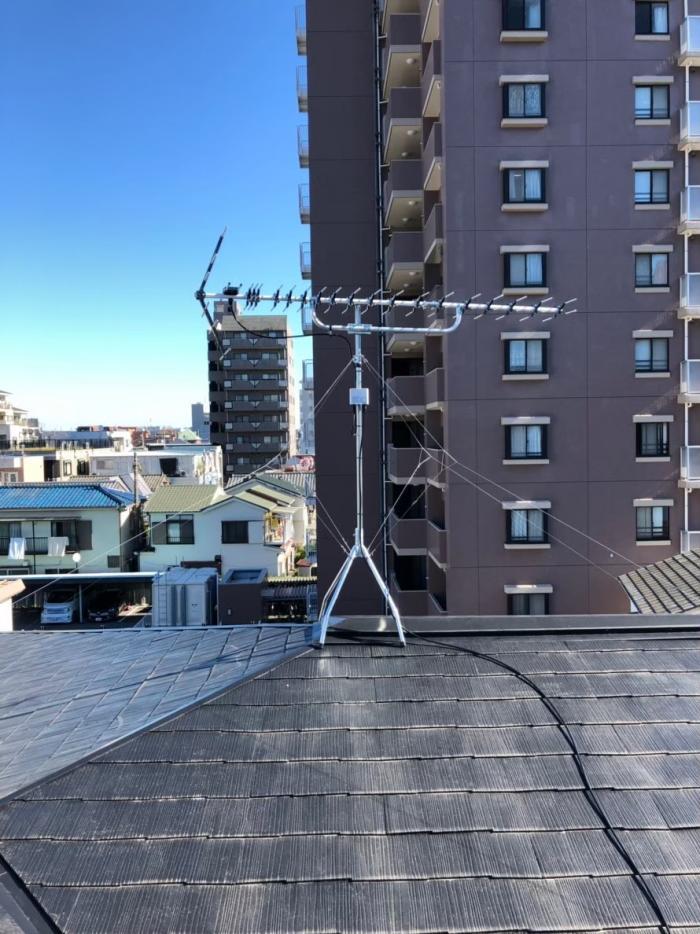 川口市幸町 高性能UHFアンテナ工事