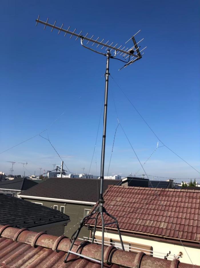 上尾市原市|既設アンテナ立て直し工事