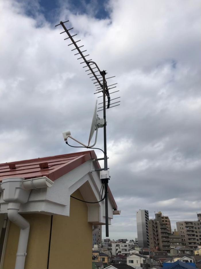 豊島区上池袋|BS/CSアンテナ追加工事