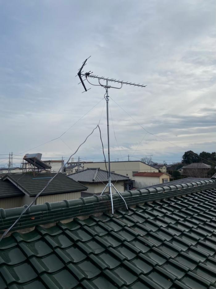 栃木市城内町|UHFアンテナ工事