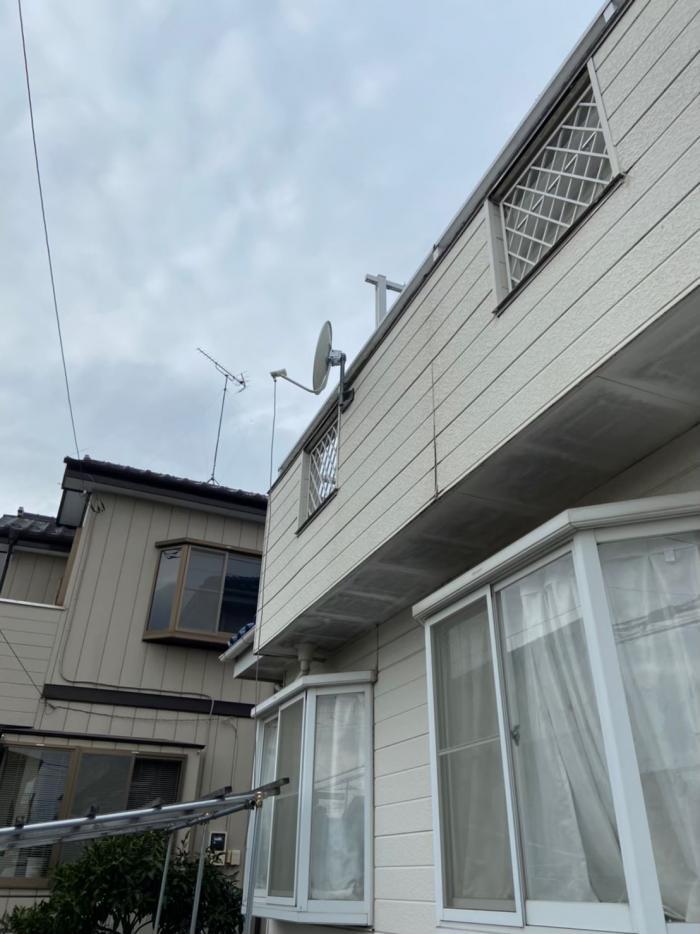 さいたま市大宮区三橋 デザインアンテナ+BS/CSアンテナ工事