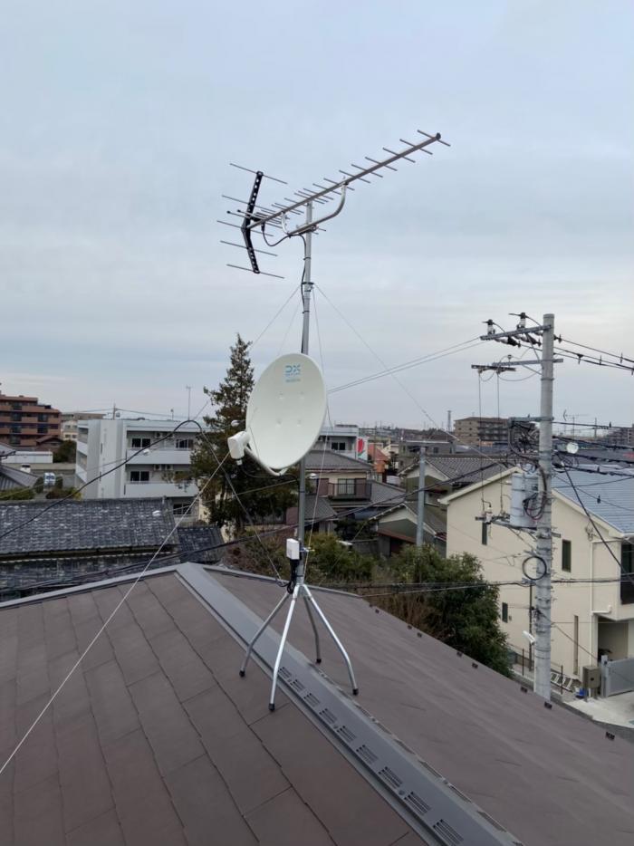 さいたま市北区奈良町 UHFアンテナ+BS/CSアンテナ工事