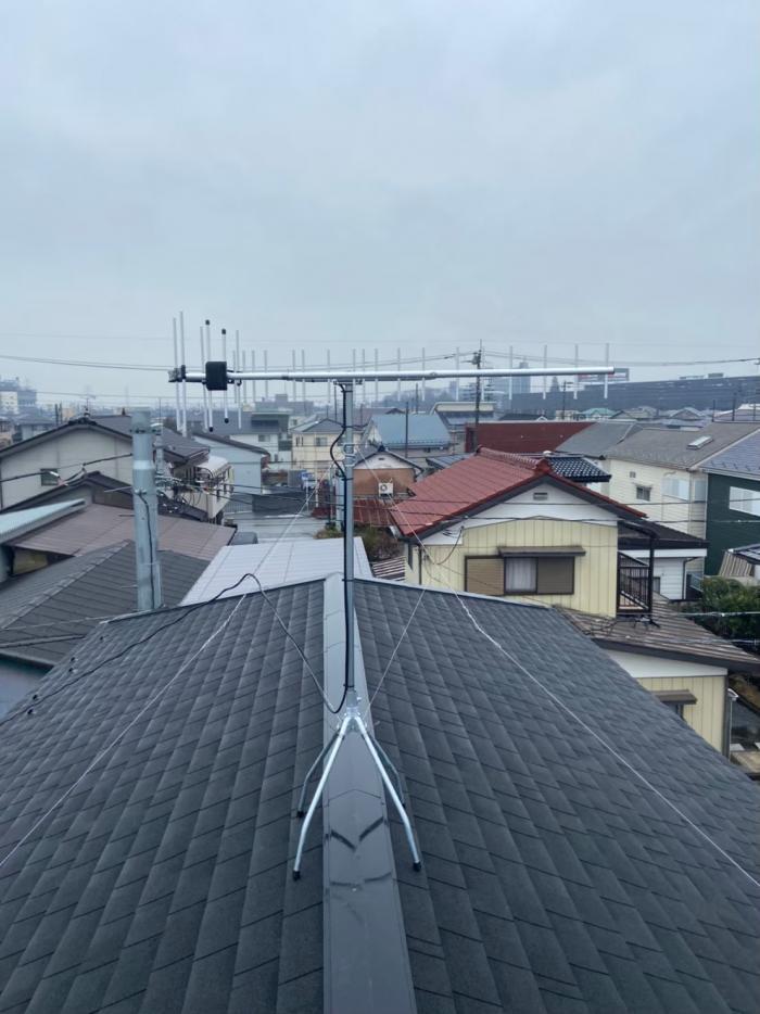 本庄市若泉 UHFアンテナ工事