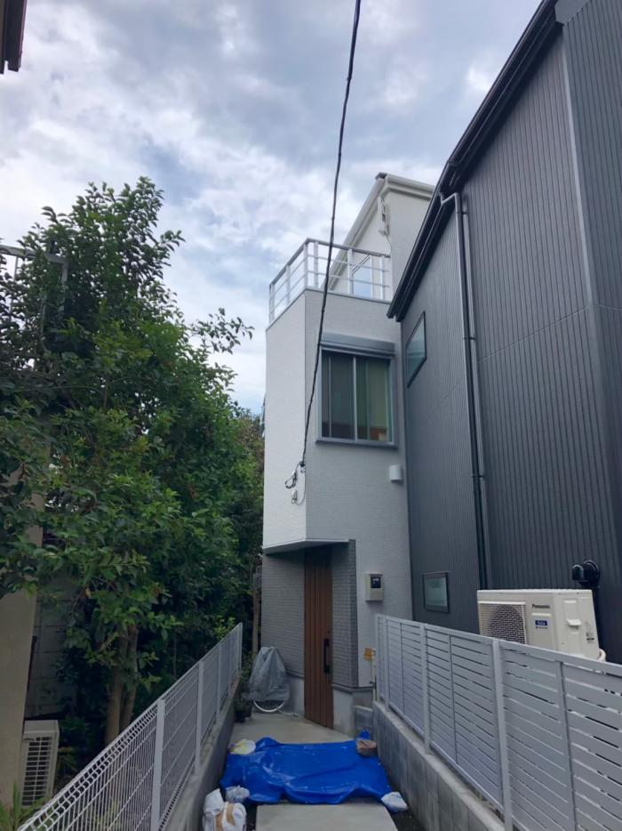 世田谷区若林 デザインアンテナ工事