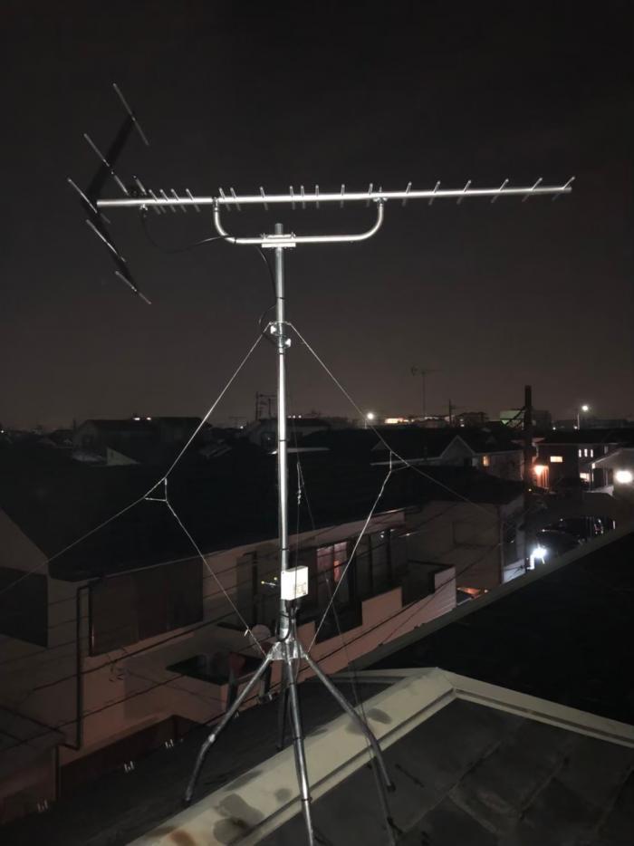 川越市木野目 UHFアンテナ工事