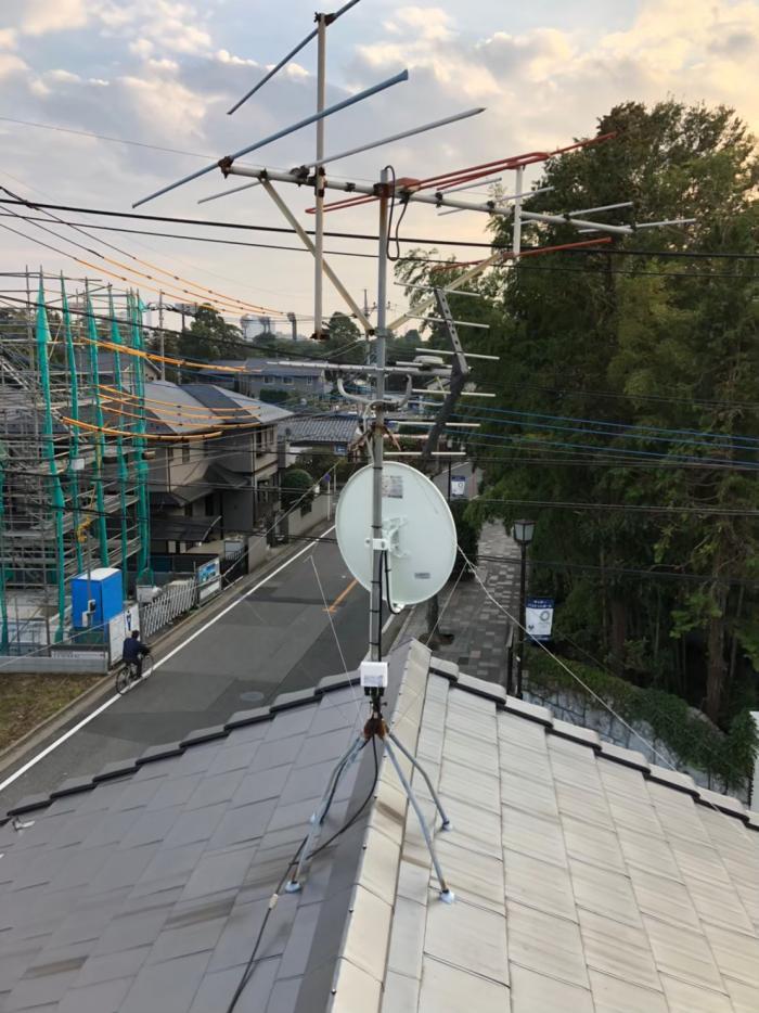 さいたま市大宮区寿能町 BS/CSアンテナ追加工事