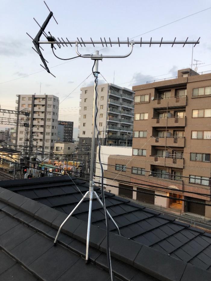 所沢市上新井|UHFアンテナ工事
