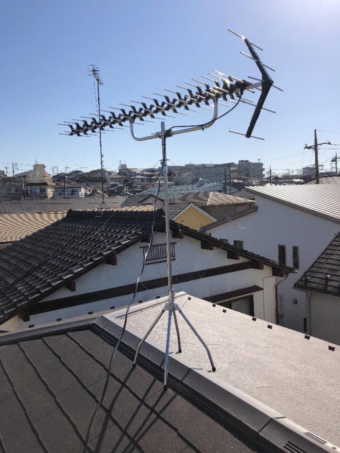 朝霞市膝折町|高性能UHFアンテナ工事