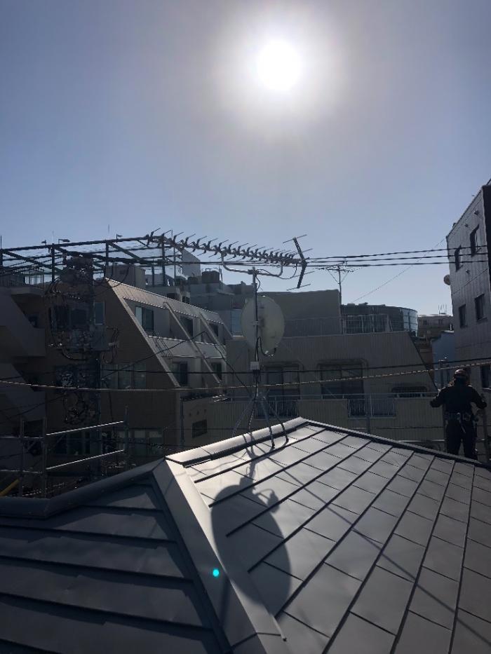 世田谷区用賀 高性能UHFアンテナ+BS/CSアンテナ工事