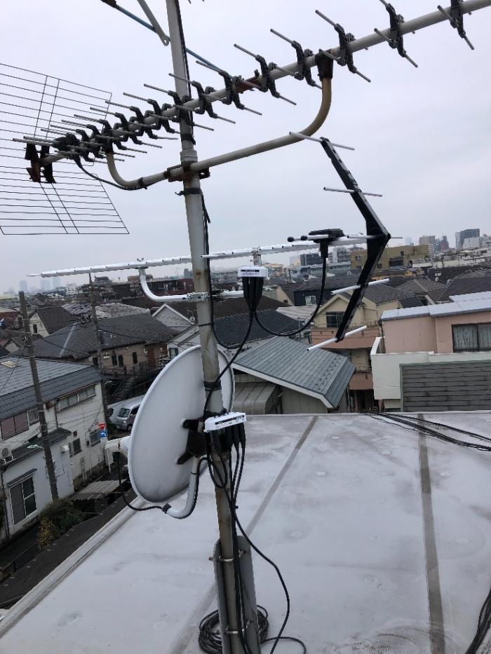 大田区西蒲田|UHFアンテナ工事