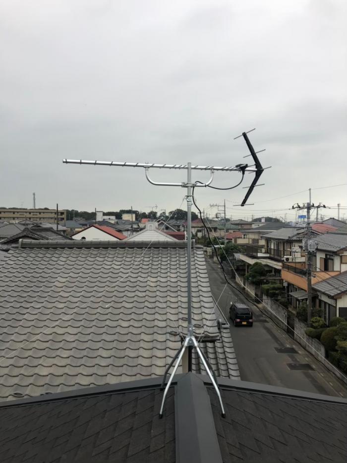 北本市中丸|UHFアンテナ工事
