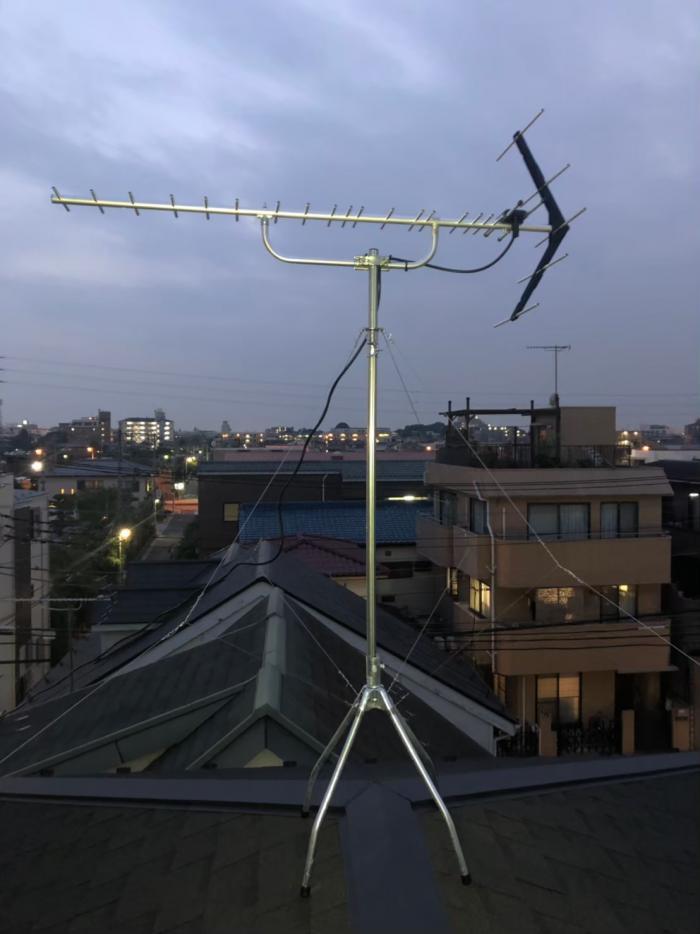 さいたま市中央区上落合|UHFアンテナ工事