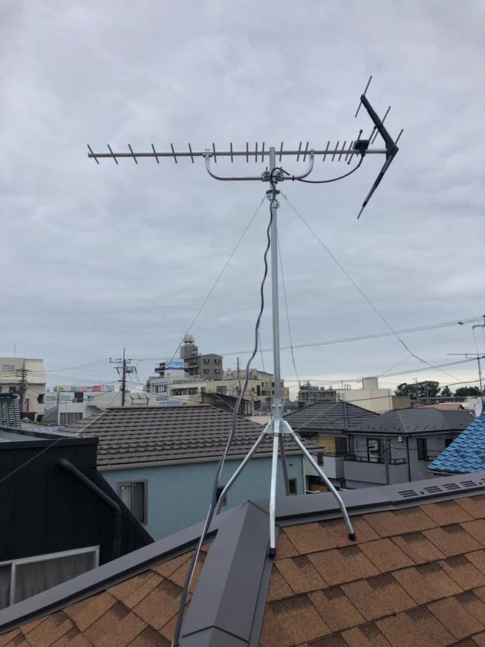 松戸市馬橋 UHFアンテナ工事