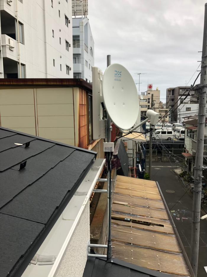 江東区東砂|デザインアンテナ+BS/CSアンテナ工事