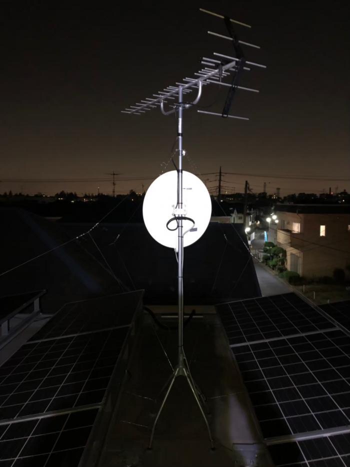 松戸市五香|アンテナ支線補強+BSアンテナ調整工事