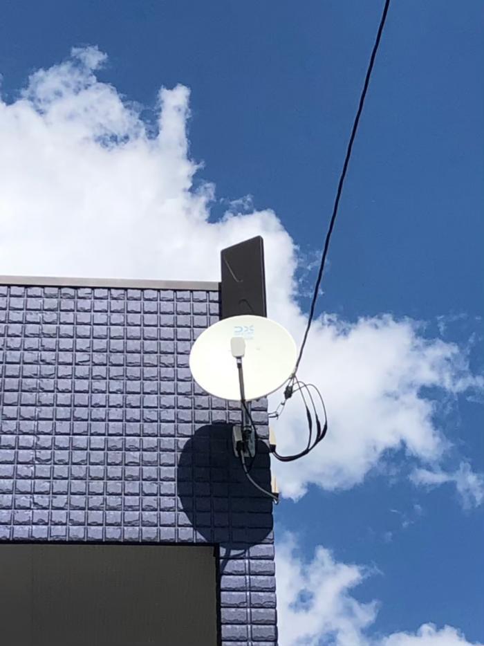 印西市東の原 デザインアンテナ+BS/CSアンテナ工事