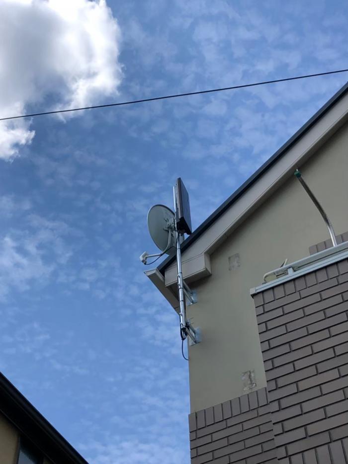 大田区田園調布本町|デザインアンテナ+BS/CSアンテナ工事