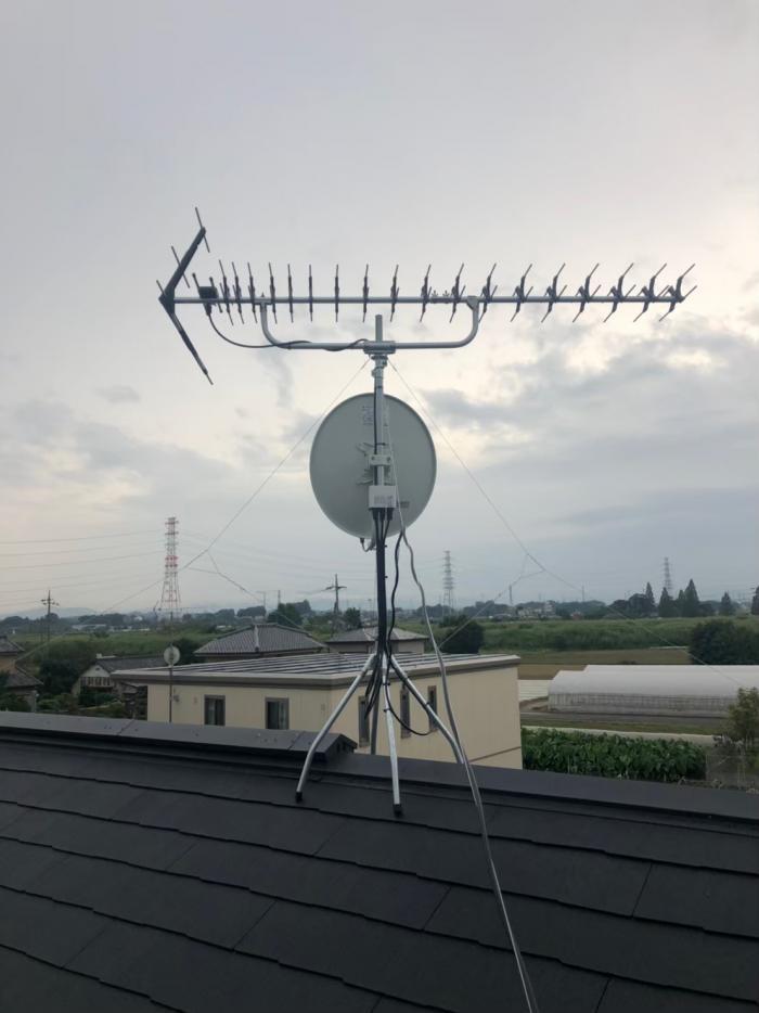 深谷市町田 高性能UHFアンテナ+BS/CSアンテナ工事