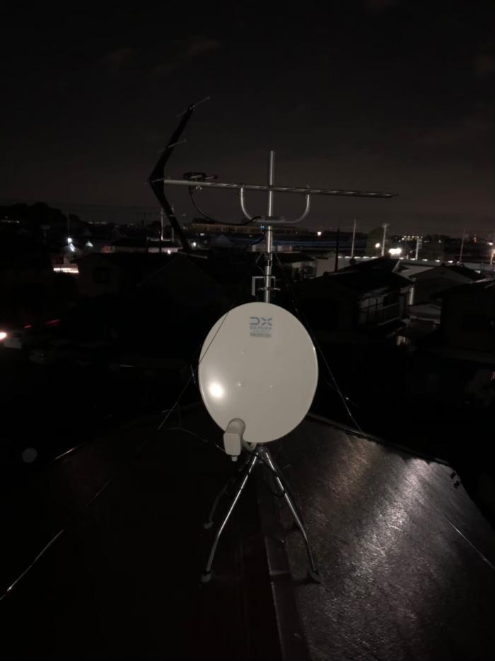 あきる野市小川|UHFアンテナ+ BS/CSアンテナ工事