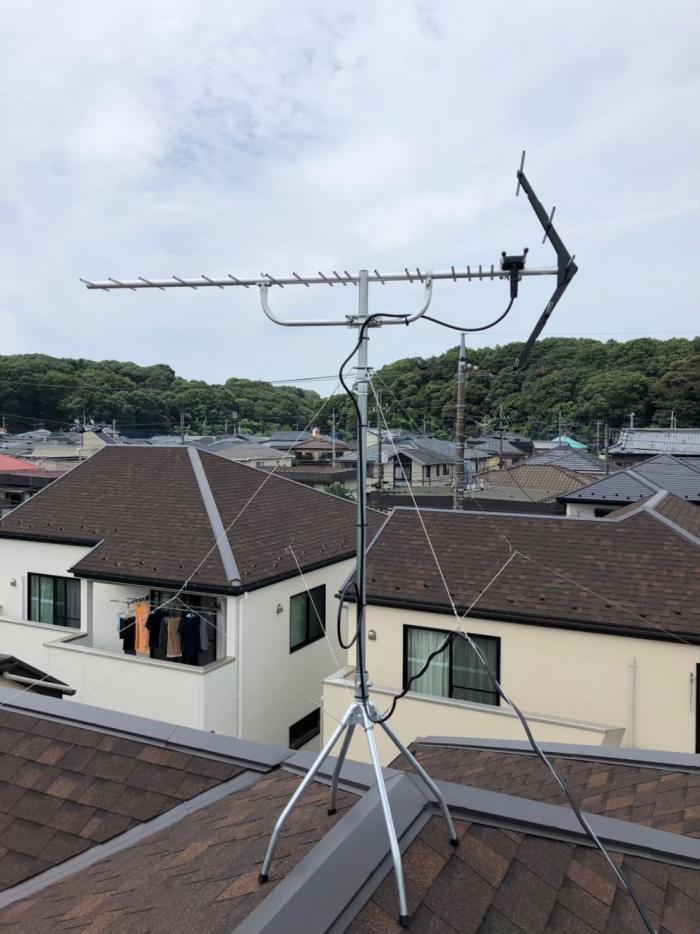 流山市宮崎|UHFアンテナ工事