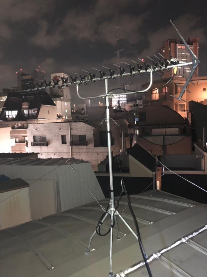 世田谷区三軒茶屋 高性能UHFアンテナ工事