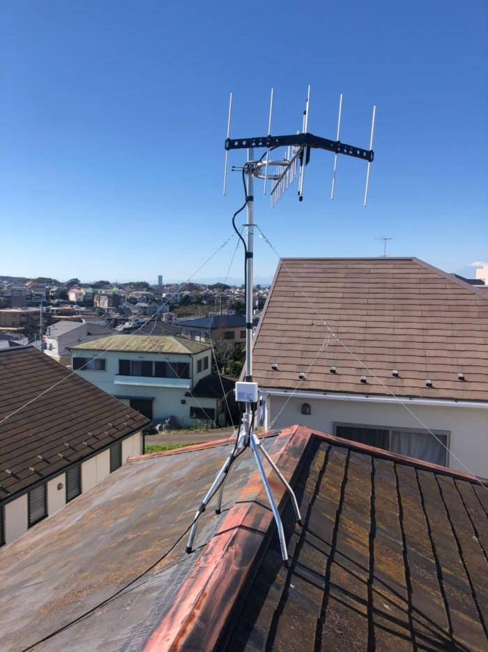 戸塚区汲沢|UHFアンテナ+既設アンテナ撤去工事